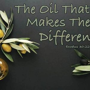 The Oil That Makes The Difference